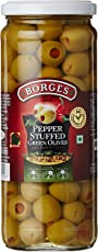 Borges Hot Pepper Stuffed Green Olives, 450g