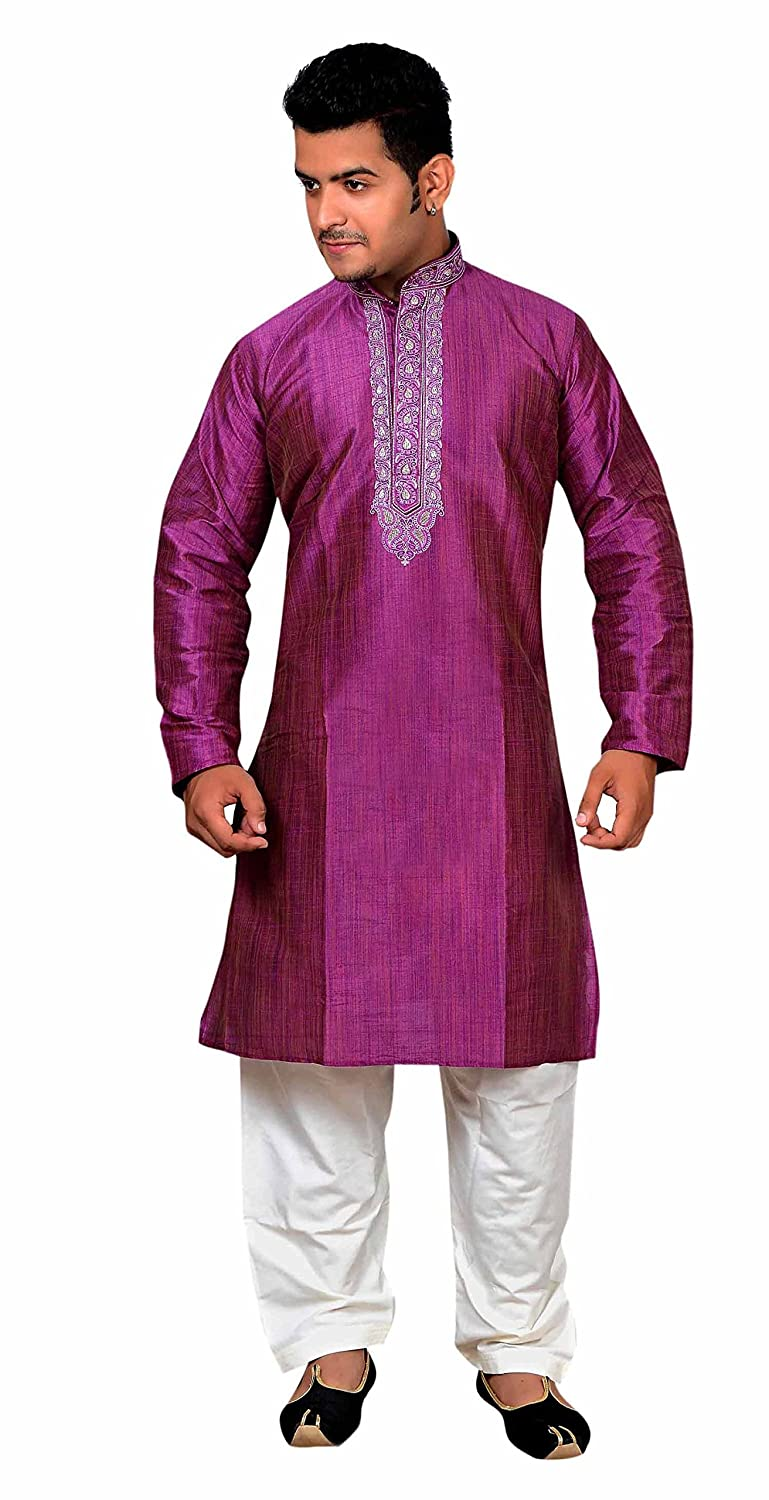Herren Indian Rot Violet Sherwani Kurta salwar kameez für Bollywood thema  party outfit London 748: Amazon.de: Bekleidung
