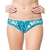 Satini Women's Tanga Bikini Lingerie Briefs Panties Satin Knickers