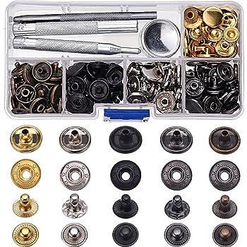 c29100447708 Shappy 60 Lot en cuivre Boutons pression Boutons pression Boutons pression  sans couture Cuir Vêtements Bouton