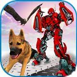 robot de transformación multi robot perro de policía animal robo