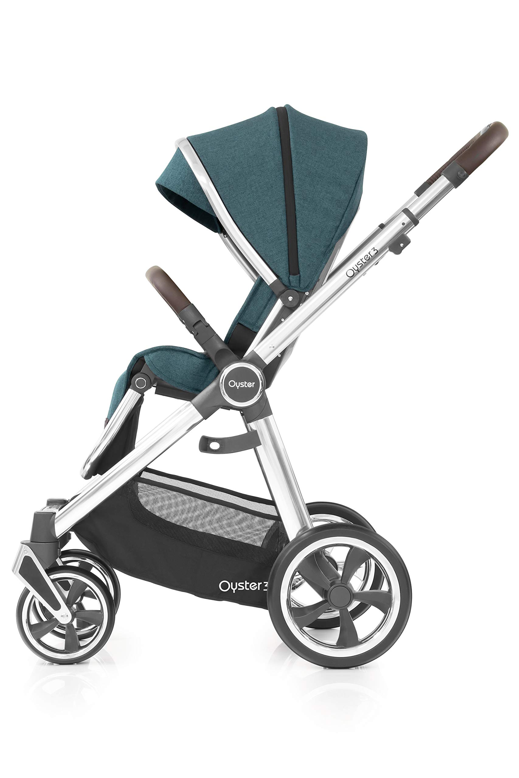 Babystyle Oyster3 Pushchair in Peacock Mirror Chassis Babystyle  4