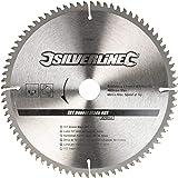 Silverline 244964 Hartmetall-Furniersägeblatt, 80T 250 x 30 - 25, 20, 16 mm Ringe