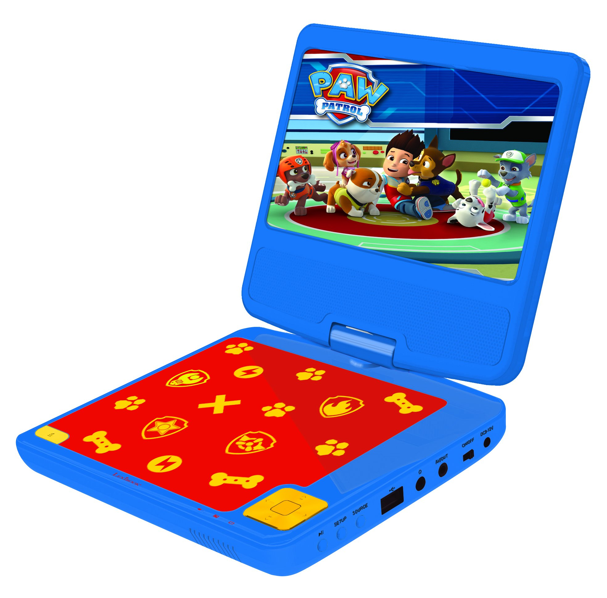 81I%2BwHoiVeL - Lexibook DVDP6PA Paw Patrols Portable DVD Player with Car Adaptor and Remote