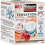 Rubson Sensation Energy, 2 x 300 g universele navulverpakkingen voor vochtabsorptie, 3-in-1 navulverpakking, tegen vocht en g