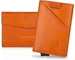 DODENSHA Card Holders Wallet Leather Wallets Mens Slim Wallets Minimalist Wallet Pop Up Design, RFID Wallets for Men with Lar