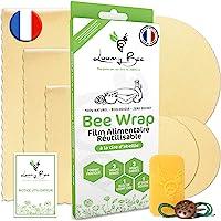 Loomy Bee Wrap ou Emballage Cire d'abeille Réutilisable - Lot de 6 - Film Alimentaire Réutilisable écologique, Lavable…