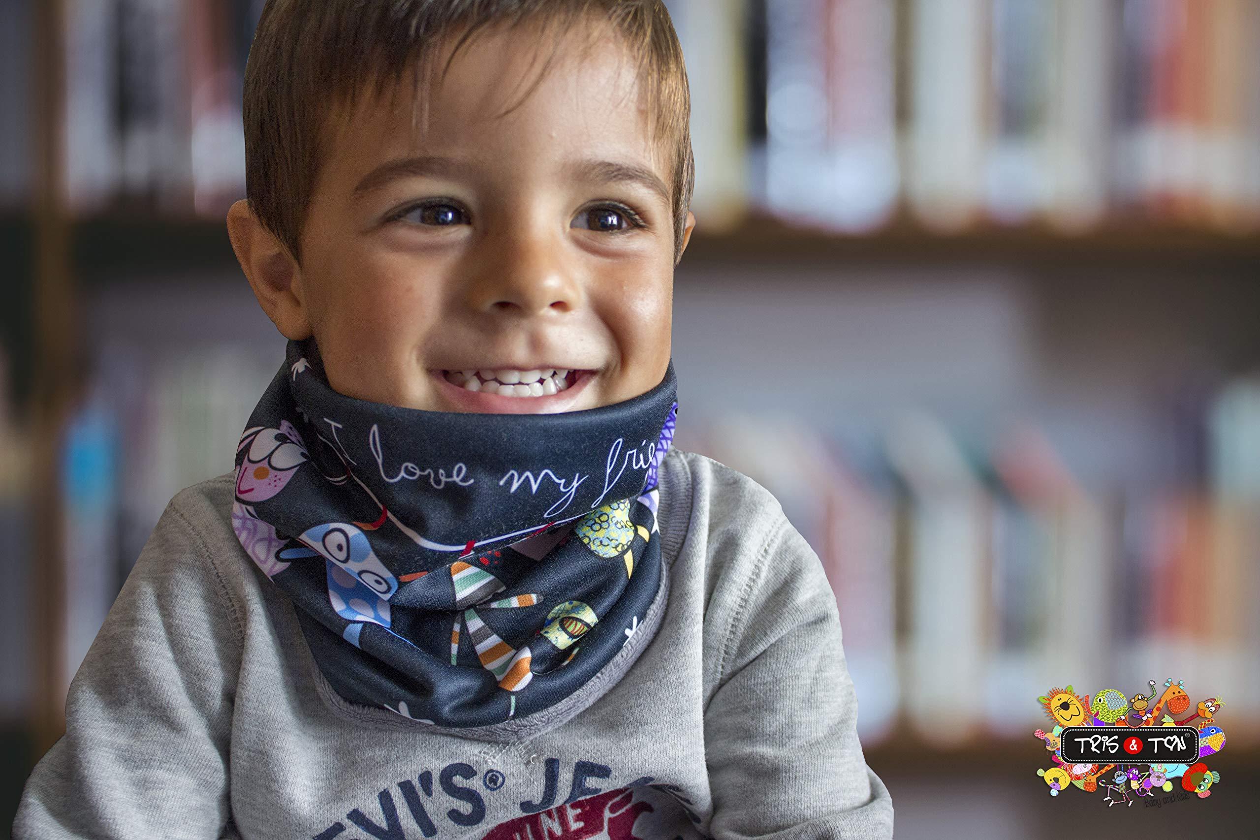 Tris&Ton bufanda para bebé niño niña invierno, braga de cuello (Trisyton) (Hippo) 3