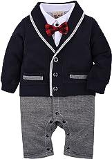 Zoerea 1 tlg Baby Strampler Smoking für Jungen Kleidung Body Kleidung Gentleman