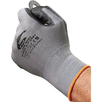 Guanti da lavoro di Grey lavoro Builder - da Easy Off Guanti. Ideale per lavoro, bricolage, elettricisti, idraulici, Lavoratori e pesca(piccolo)