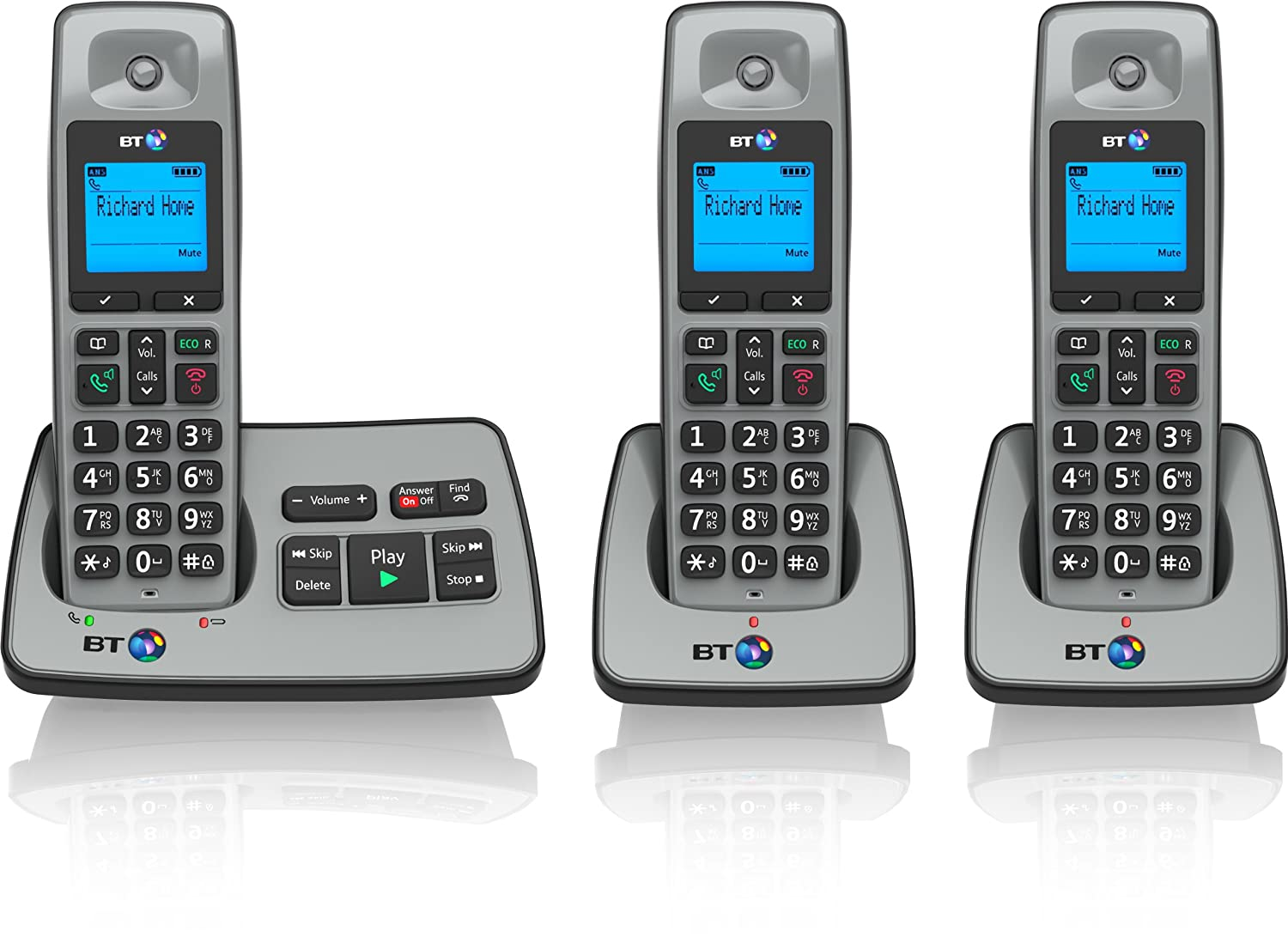 Bt 2500 Cordless Dect Phone With Answer Machine: Amazon: Electronics