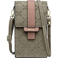 JOSEKO Handy Tasche Frauen, Damen Handy Schultertasche Umhängetasche Damen Solid PU Leder Clutch Bag Kartentasche Phone…