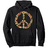Peace Love Tenue Hippie Flower Power Années 60 70 Sweat à Capuche