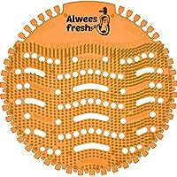 Alwees Fresh - Ecrans d'urinoir, Tapis d'Urinoir, Filtre à urinoir  - Parfum Mangue (lot de 10)