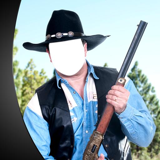 Cowboy-Foto-Montage -