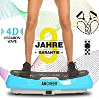 ANCHEER Profi 3D Vibrationsplatte mit 2 Motoren, Ultraflache Breite Fitness Vibrationsplatten Oszillierend…