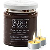Butters & More Vegan Almond Butter with Hazelnuts, Dark Cocoa & Organic Palm Jaggery (200G). Healthy Chocolate Spread…