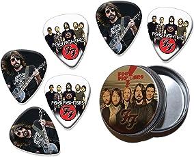 Foo Fighters Dave Grohl Set of 6 Double Sided Loose Gitarre Plektrum Plektron Picks in Tin