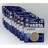 10 x CR2430 knappcell 3 V Varta batteri (set om 10)