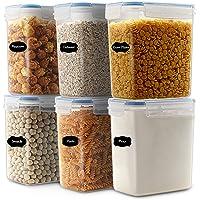 Robernet 1.6L boîtes de Conservation Alimentaire sans BPA de Nourriture en Plastique avec Couvercle, Boîtes à céréales…