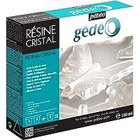 Pébéo - Gédéo Kit Résine Cristal 150 ML - Résine Époxy Transparente Effet Pâte de Verre - Pébéo Cristal - Pour Inclusion…