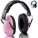 Neni - Protection auditive pour enfant - Bleu ou rose - Protection auditive premium de 1 à 16 ans - Protège-oreilles avec chiffon de nettoyage inclus, rose