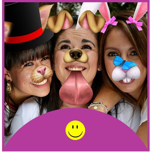 Snap Funny Doggy Face Lense Face Snap