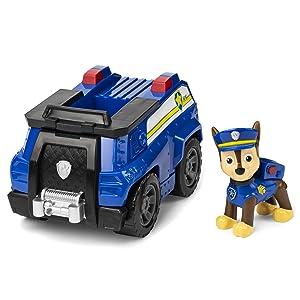 Paw Patrol - 6054118 - Jeu enfant - Véhicule + Figurine Chase - La Pat' Patrouille