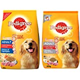 Pedigree Adult Dry Dog Food (High Protein Variant) – Chicken, Egg & Rice, 20 Kg Pack and Adult Dry Dog Food, Chicken & Vegeta