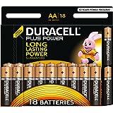 Duracell Plus Power Alcalino 1,5 V – Pile (alcalino, cilindrico, AA, nero, oro, fiala