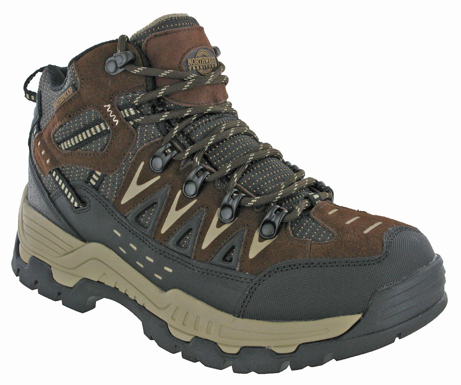 Northwest Mens Piers Hi Cut Brown/Beige Ankle Walking Boots 1