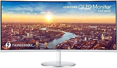 Samsung C34J791W 86,36 cm (34 Zoll) Curved Monitor WQHD Thunderbolt-3 Silber/Weiß