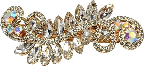 Mansiyaorange Indo Western Exclusive Fancy Party Wedding Casual Wear Tripple Lock Hair Clip Women(Tripple Lock )