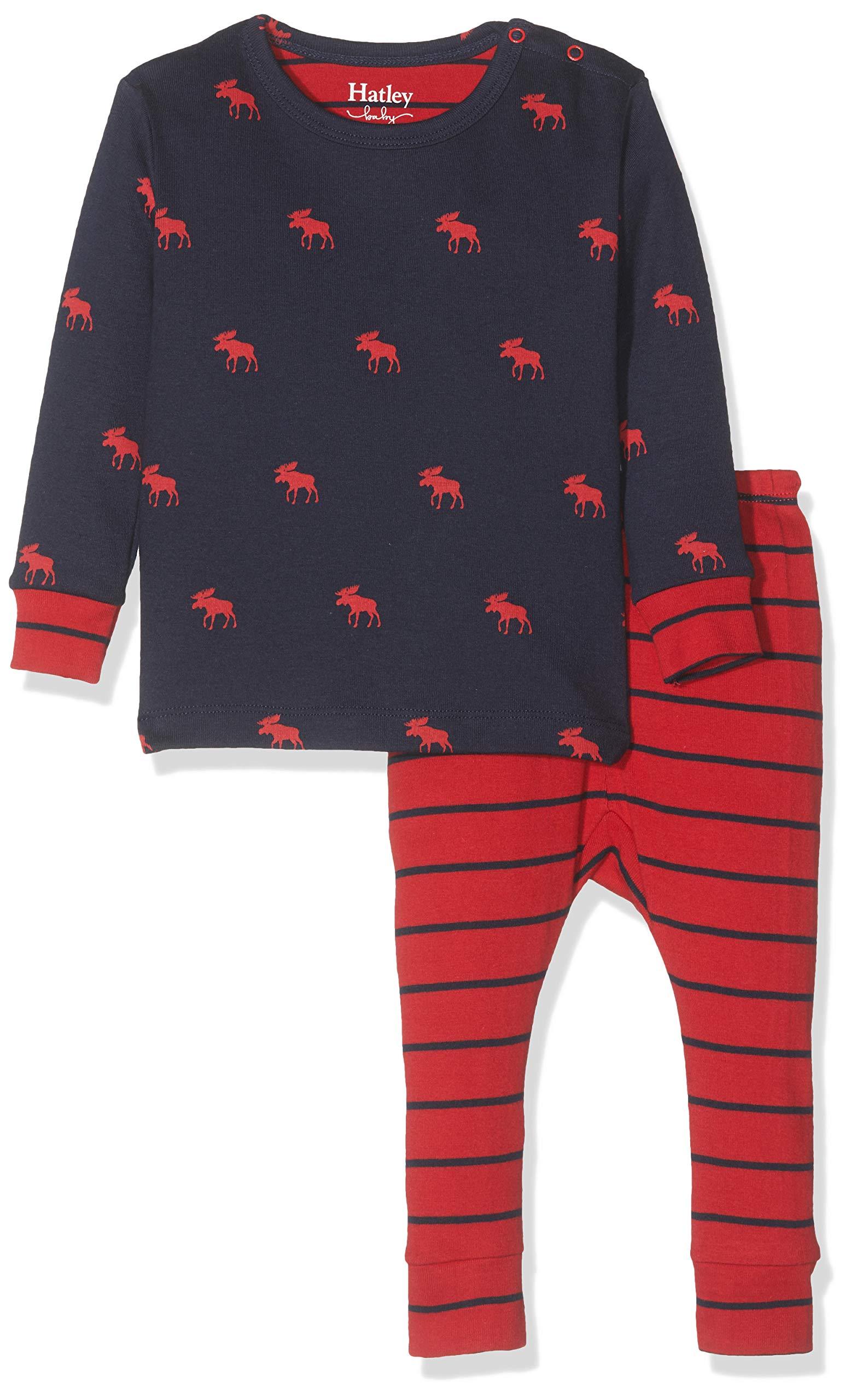 Hatley Mini Organic Cotton Long Sleeve Pyjama Sets Conjuntos de Pijama para Bebés 1