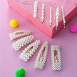 Mollette per Capelli Perle, Comius Sharp 10 Pezzi Forcina Barrette per Capelli Mollette Nuziale Capelli Clip Accessori, Ferma