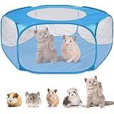 Nasjac Box per Piccoli Animali Tenda per Animali Domestici Trasparente Traspirante con Coperchio Superiore Esercizio