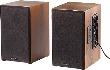 auvisio Aktivboxen: Aktives Stereo-Regallautsprecher-Set im Holz-Gehäuse mit Bluetooth (Aktive Lautsprecher)