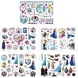 Qemsele Tatuajes Temporales Para Niños Niñas, 10 Sheets 200+ Pcs Hojas Dibujos animados Tatuaje Falso Pegatinas Para piñata N