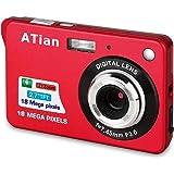ATian Compactas Cámaras Digitales 2.7 Pulgadas LCD 8X Zoom Digital Anti-vibración Recargable HD Cámara Digital para Estudiant