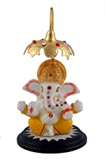 Aica Gifts Microfibre Lord Ganesha Idol Car Dashboard Hindu Figurine Showpiece (Multicolour)