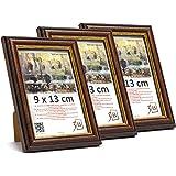 Set di Pezzi 10 Solide Cornici in Legno per Foto con Plexi I Vari Colori e Stili 9x13 cm Il Prezzo allIngrosso per Gli Stock rimanenti! 3B Set Regalo