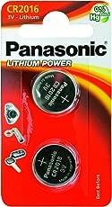PANASONIC CR 2016 Lithium, Knopfzelle 3V  (2er Pack)