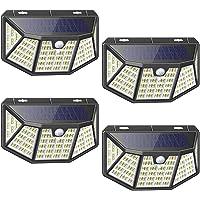 Lampe Solaire Extérieur 4Pcs 212LED Lumière Solaire Exterieur Étanche Solaire avec Détecteur de Mouvement et Éclairage à…