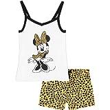 Disney Minnie Mouse Girls Short Pyjamas, Cotton Shortie PJs, Girls Summer Clothes
