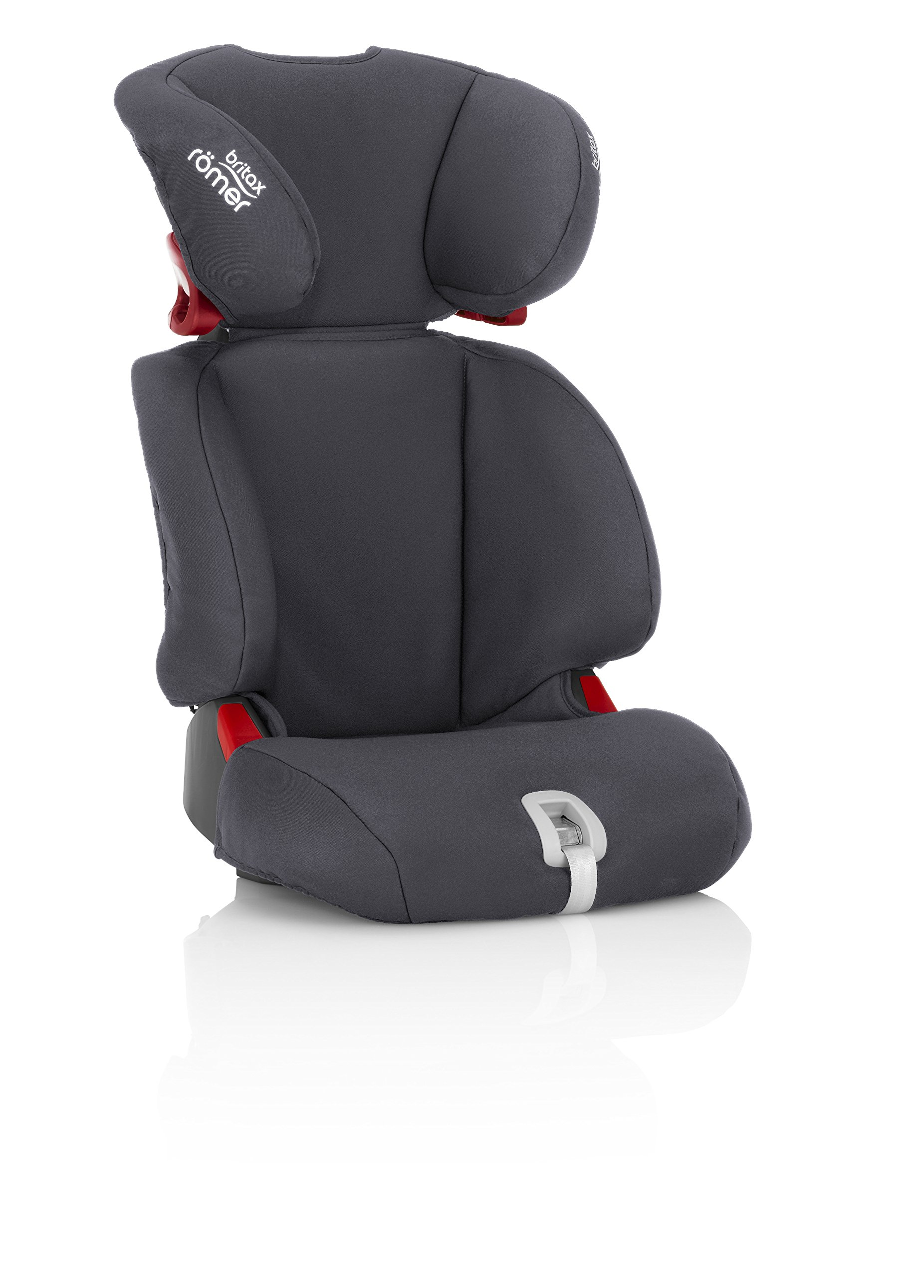 Britax Römer DISCOVERY SL Group 2-3 (15-36kg) Car Seat - Storm Grey  Our high back boosters protect your child in 3 ways: the seat shell provides head to hip protection for your child; the upper and lower belt guides provide correct positioning of the seat belt; and the padded headrest provides safety and comfort. Adjustable backrest - the child seat's adjustable backrest allows you to match the angle of the vehicle seat, providing a better fit and a comfortable position for your child. Easy adjustable headrest - our easy-to-adjust headrest was designed especially for older children, when using the 3-point seat belt to secure them in the car seat. 3