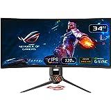 "Asus ROG SWIFT PG349Q 34"" Curvo UWQHD Gaming Monitor, 3440 x 1440, IPS, fino a 120 Hz, DP, HDMI, USB 3.0, G-SYNC…"