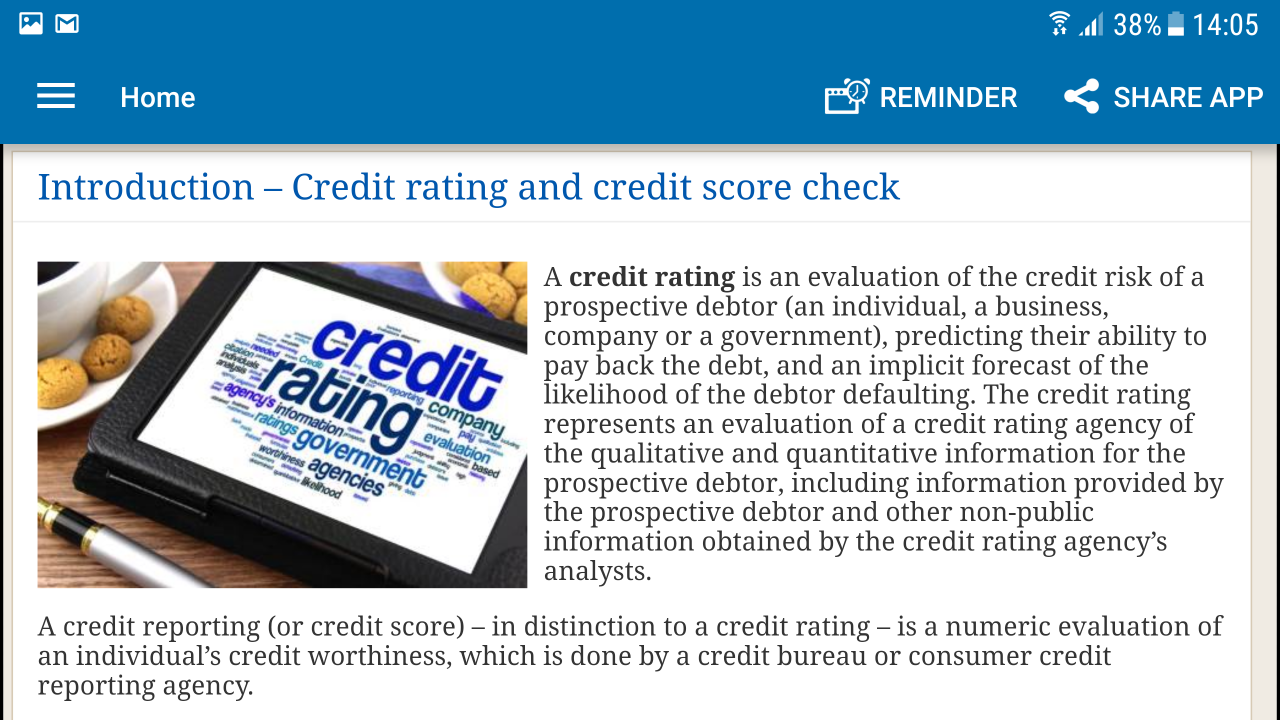 credit rating and credit score check : Amazon.de: Apps & Spiele