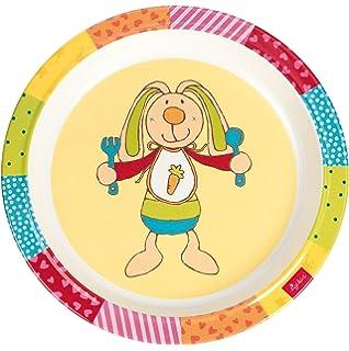 Sigikid Melamin Geschirr-Set Hase Rainbow Rabbit Taufgeschenk 4-teilig I Geschenkverpackung