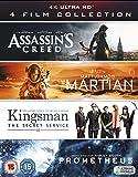 4K UHD Film Collection (Assassin's Creed, The Martian, Kingsman & Prometheus) [4K Blu-ray] [2017]