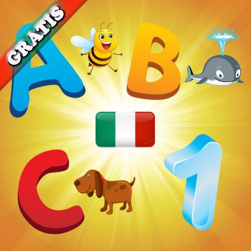 Alfabeto italiano per bambini ed i più piccoli : Imparare i numeri e le lettere della lingua italiana ! GRATIS